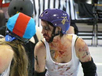 """Windy City Rollers """"Zombie Roller Derby"""", Chicago, IL June, 2013"""