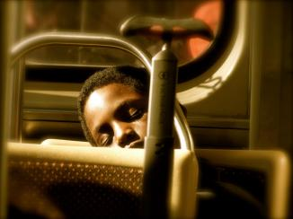 Asleep on the L, Red Line, Chicago, IL May, 2012