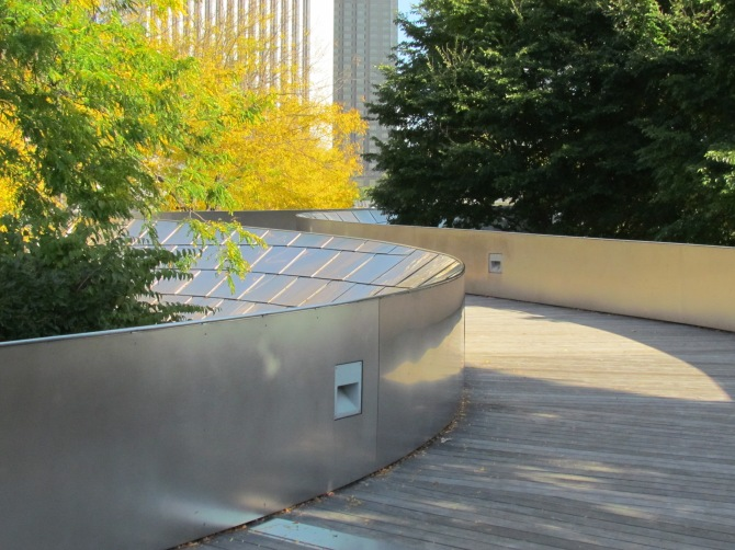 Not in Kansas any more. Footbridge in Millennium Park, Chicago, IL. October 2013.